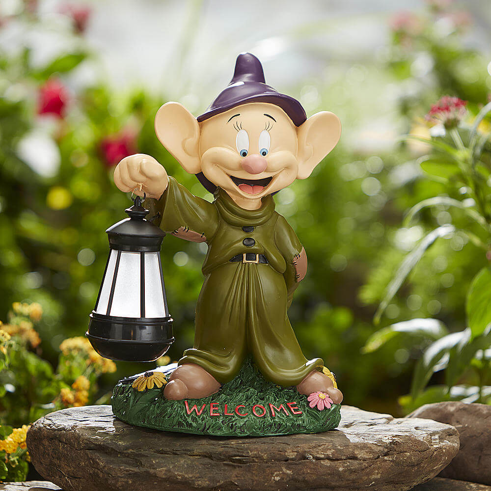 Disney garden statues with solar lantern from Kmart Inside the Magic