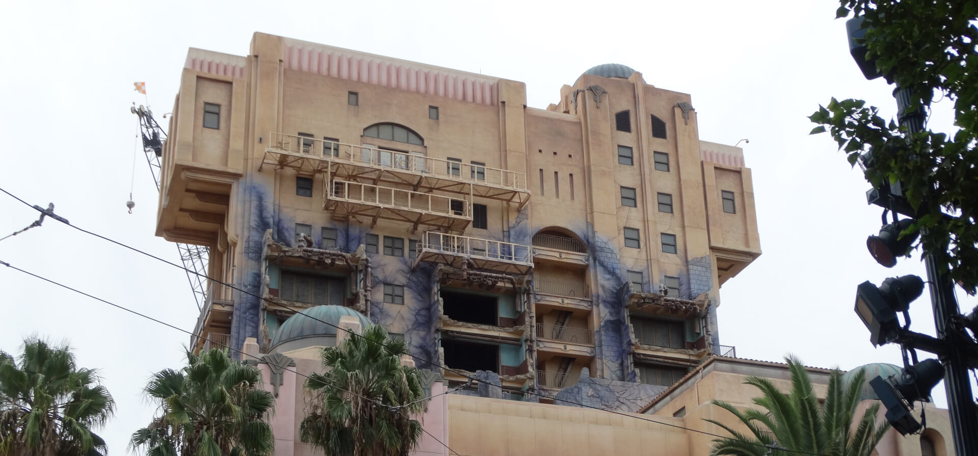 """VIDEO: """"Hollywood Tower Hotel"""" sign has been removed from ... Hollywood Tower Of Terror Inside"""