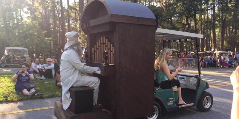 video fort wilderness resort campground decorations and halloween golf cart parade