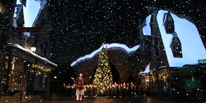 universal studios japan celebrates opening of first ever christmas in the wizarding world of harry potter