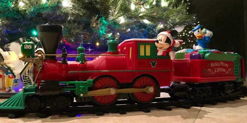 spread christmas cheer with lionels two new holiday themed disney mickey mouse train sets - Christmas Tree Train Sets Under Tree