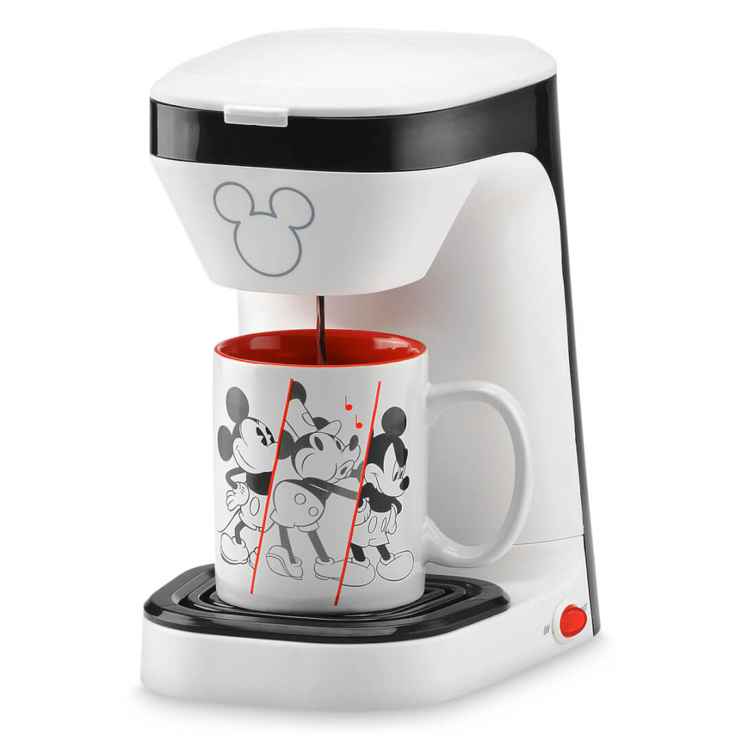 Stare Your Mornings With Mickey Mouse And A Cup Of Coffee With This Mickey  Mouse 90th Anniversary Single Serve Coffee Maker ($24.95).
