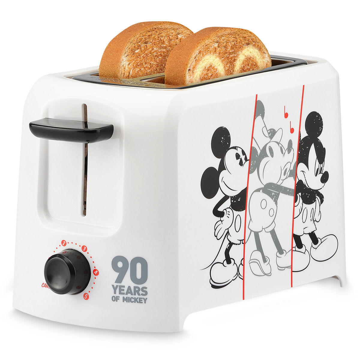 Make A Toast To The Mouse With The Most With This Mickey Mouse 90th  Anniversary Toaster ($24.95). The Two Slice Toaster Makes Mickey Themed  Toast And ...