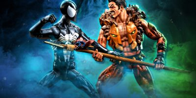 Kraven and Spider Man Marvel Figures