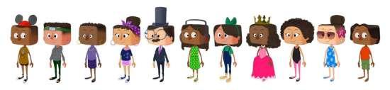 User character visual development lineup