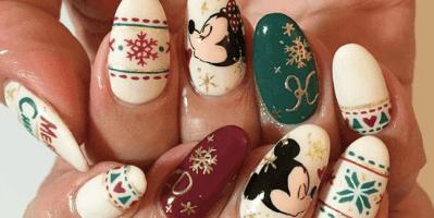 Disney Holiday Nail Art