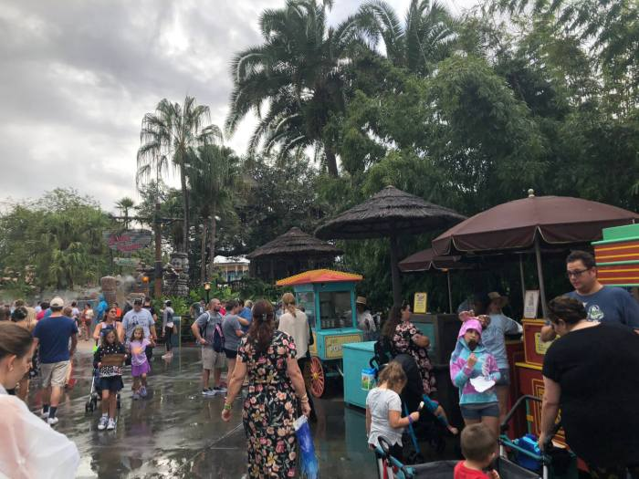 food cart in Adventureland, between Jungle Cruise and Pirates of the Caribbean