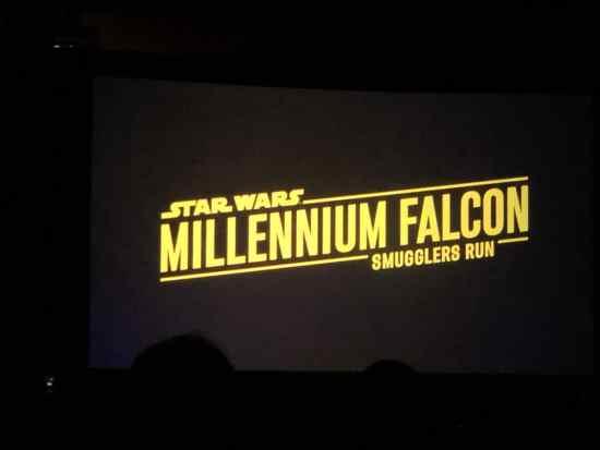 Millennium Falcon: Smugglers Run presentation
