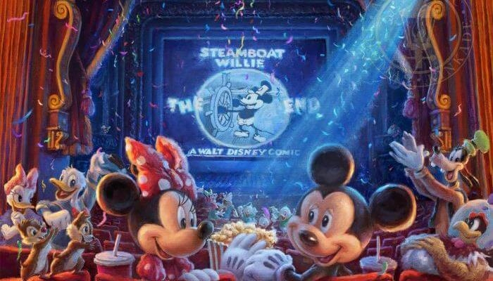 Thomas Kinkade Disney art - 90 Years of Mickey