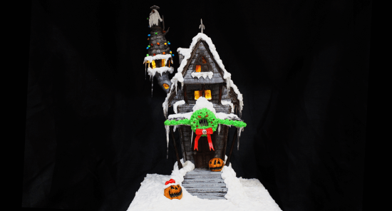 Nightmare Before Christmas gingerbread house