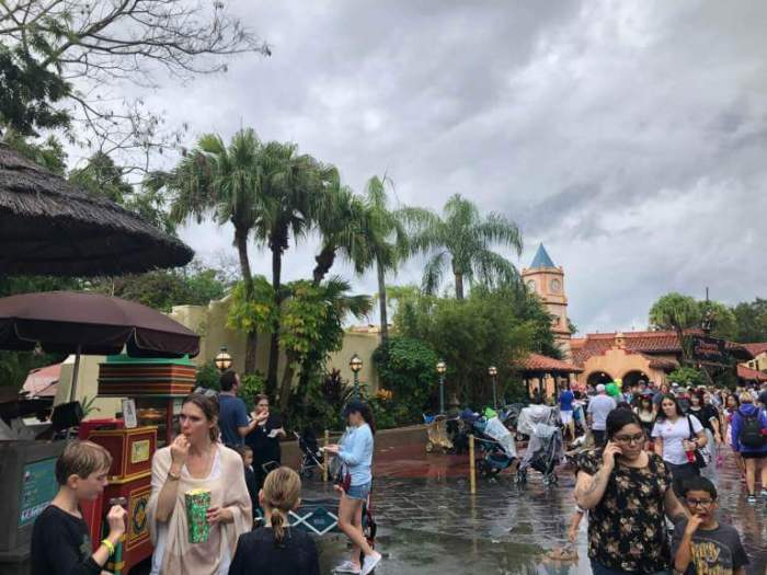 small cart in Adventureland, between Jungle Cruise and Pirates of the Caribbean