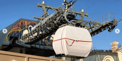 Disney Skyliner Gondola at International Gateway at Epcot