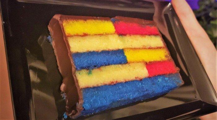 Almond Mondrian Cake at Epcot Festival of the Arts