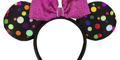 polka dot ear headband