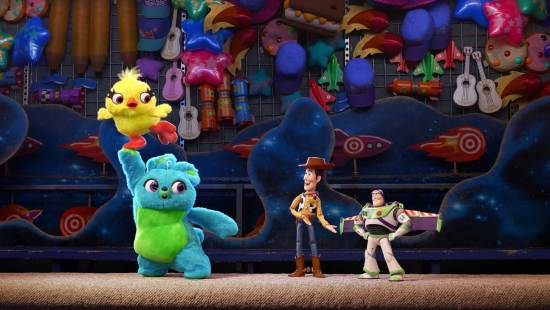 """Ducky, Bunny, Woody and Buzz Lightyear together in """"Toy Story 4"""""""