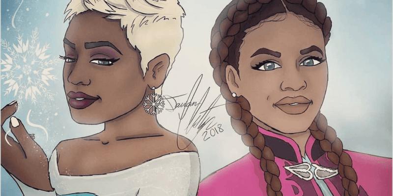 Disney Princesses as black women