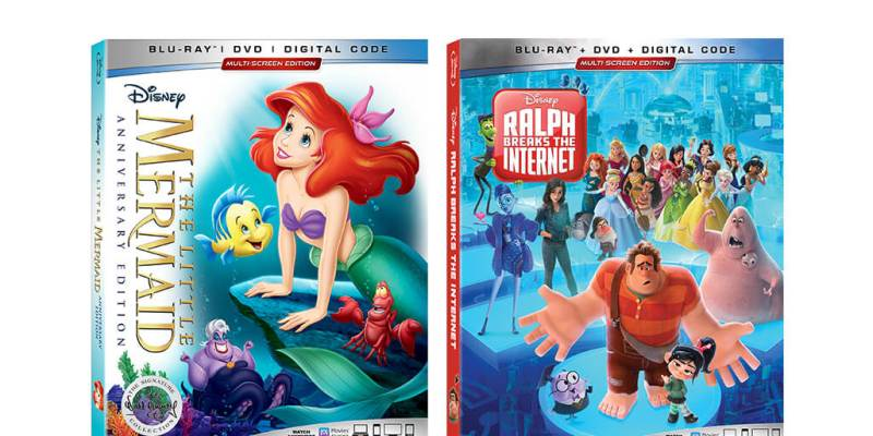 The Little Mermaid and Ralph Breaks the Internet Blu-ray Giveaway Promo