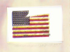 Tattered & Torn, The Postcard of Jasper Johns' 'Flag' Carries On (Part I) 2, Jefre Harwoods. 2012