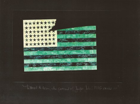 Tattered & Torn, The Postcard of Jasper Johns' 'Flag' Carries On (Part I) 3, Jefre Harwoods. 2012