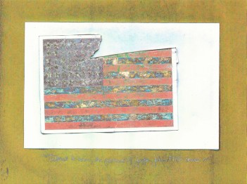 Tattered & Torn, The Postcard of Jasper Johns' 'FLAG' Carries On (part II) 1, 2012