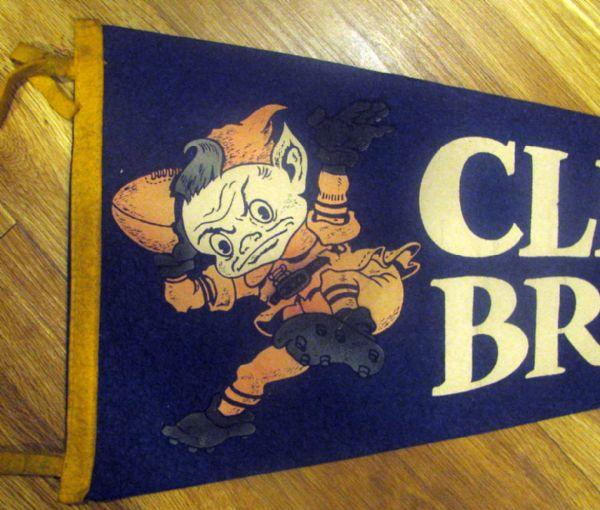Lot Detail Vintage 50 S Cleveland Browns Pennant