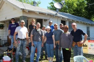 Community Volunteers to Fix Home and Church on property