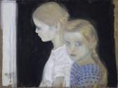Felice Casorati, Le due bambine, 1912
