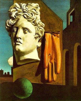 De Chirico, Canto d'amore, 1914, , dimensione cm 82,5 x 66,5, New York