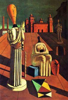 Giorgio De Chirico, Le muse inquietanti, 1917, olio su tela, dimensioni 97x66