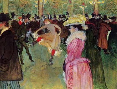 Ballo al Moulin Rouge, 1890, olio su tela, dim. m 1,15 x 1,50 , Philadelphia (USA), Collezione Henry P. Mc Ilhenny