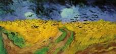 Vincent Van Gogh, Campo di grano con volo di corvi, 1890, olio su tela, dim. cm 50,5x100,5, Rijksmuseum, Amsterdam
