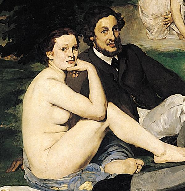 Eduard Manet, La colazione sull'erba, particolare, 1863,