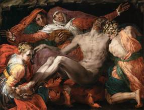 Realized by Rosso Fiorentino between 1537 and 1540, it is a Pietà (not a deposition from the cross)
