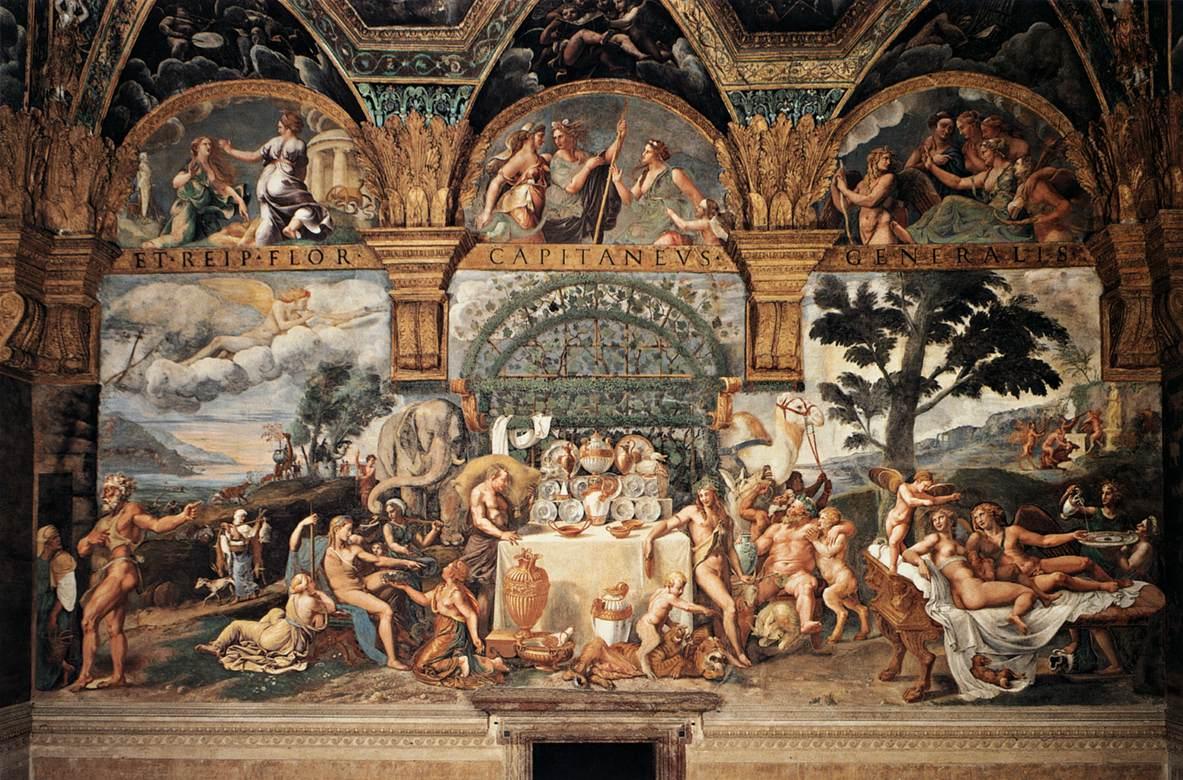 """Affresco """"Banchetto nuziale di Amore e Psiche"""" Palazzo Te (Mantova), Fresco """"Nuptial Banquet of Amor and Psiche"""", Te Palace (Mantua)"""