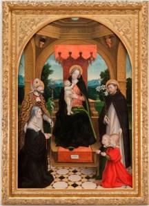 Madonna con bambino tra i santi Abbondio e Domenico, la committente Ludovica Buronzo e i suoi figli, Gerolamo Giovenone, Musei Reali TO