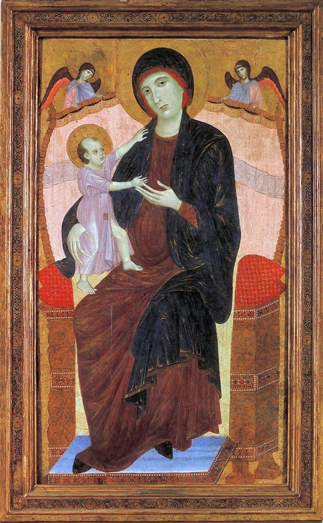 Duccio di Buoninsegna, Madonna in trono con bambino