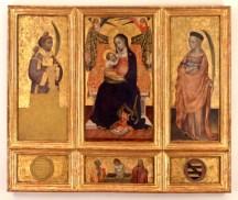 Jacques Iverny, Madonna con il bambino e i santi, Musei Reali Torino, 1425 circa