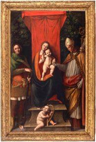 Madonna in Trono con il bambino tra i santi Bobone e Eligio