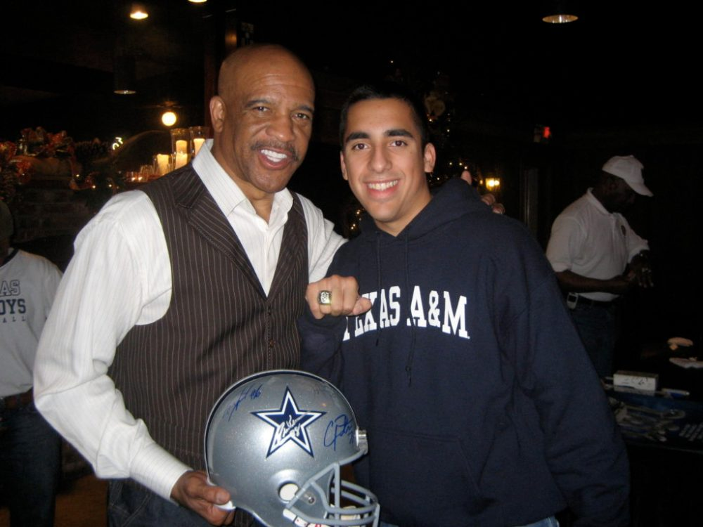 Drew Pearson and I on December 19th, 2008...the night before the Cowboys final game in Texas Stadium.