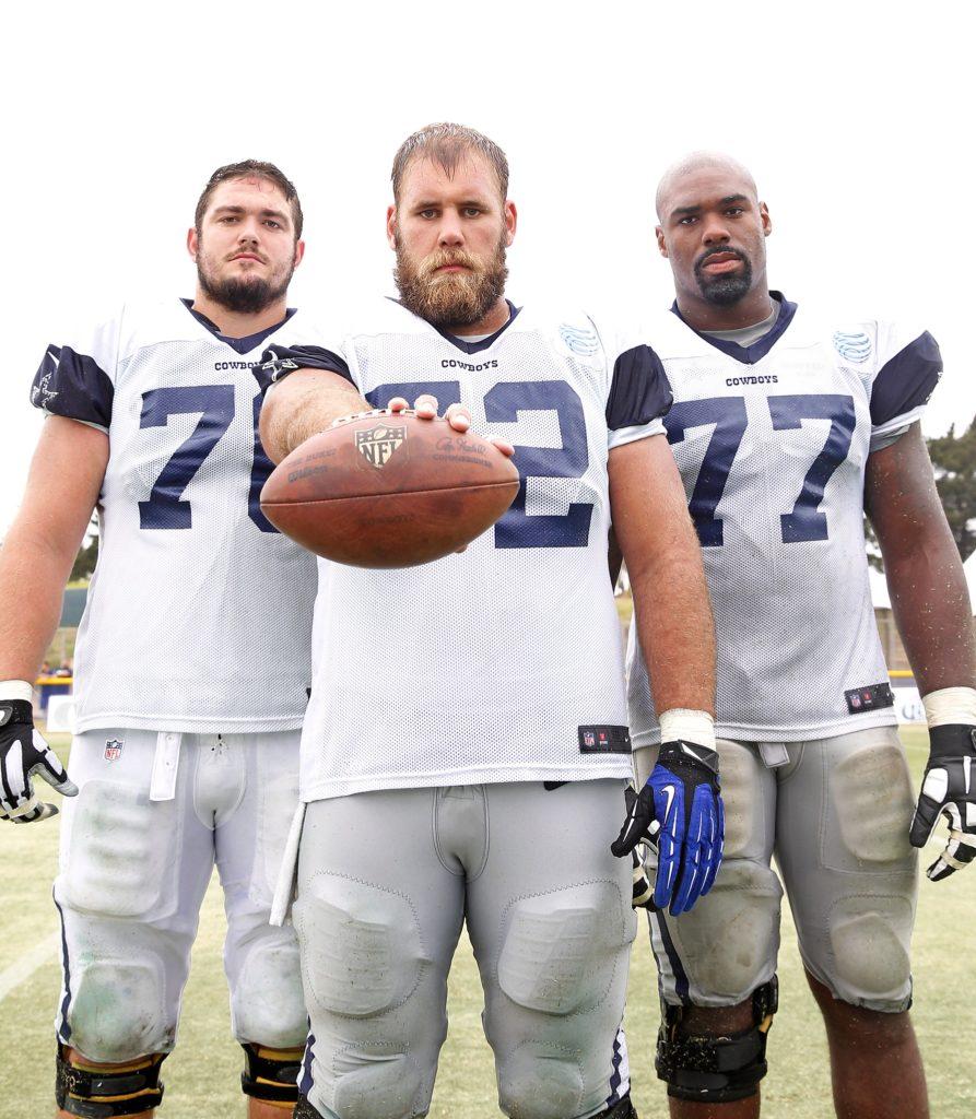 Zack Martin, Travis Frederick, Tyron Smith