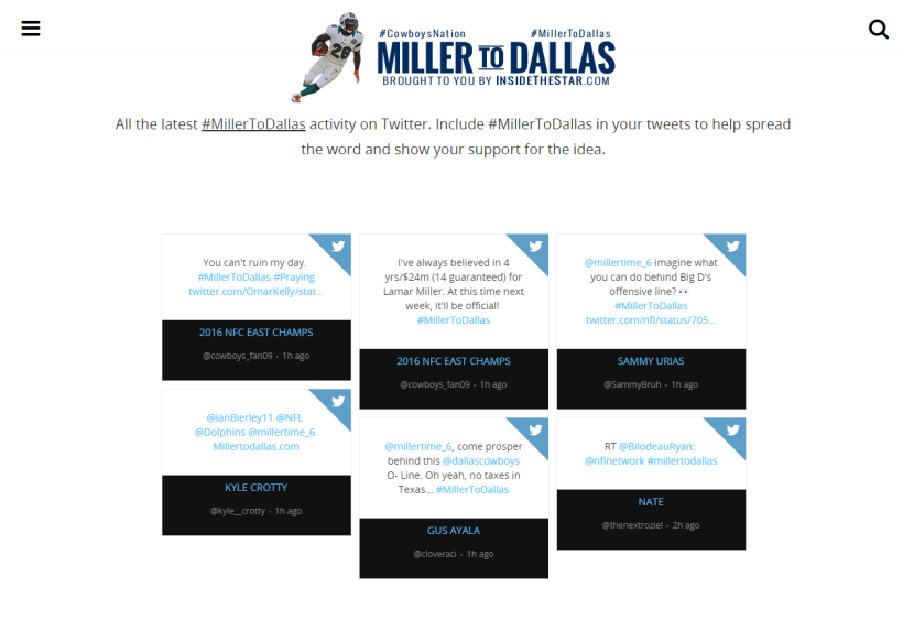 Cowboys Headlines - A Letter to Lamar Miller 1