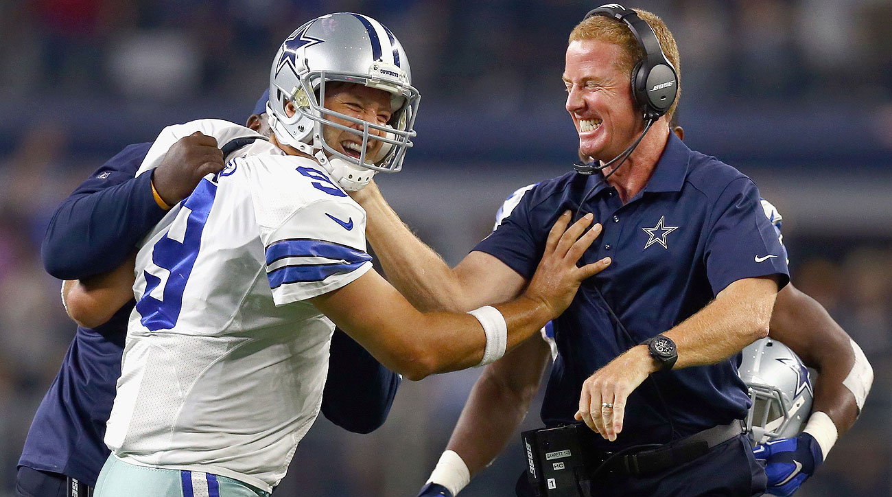 Tony Romo And Jason Garrett Visit The Boss At Msg