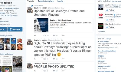 Cowboys Headlines - Tweet Break: Best of #Cowboys Twitter For May 6th