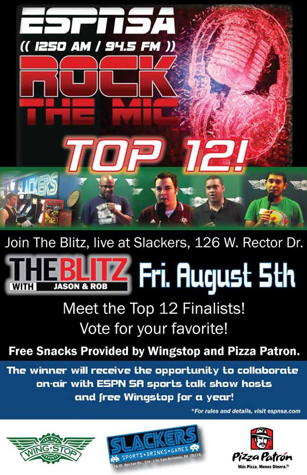 The Star News - Event: ESPN's Rock The Mic Broadcast At Slackers Sports Bar In San Antonio, Friday Aug 5 From 4-7 PM 1