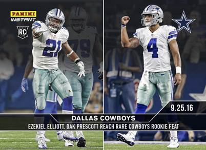 Cowboys Headlines - Panini Unveiling Ezekiel Elliott And Dak Prescott Rookie Cards 3