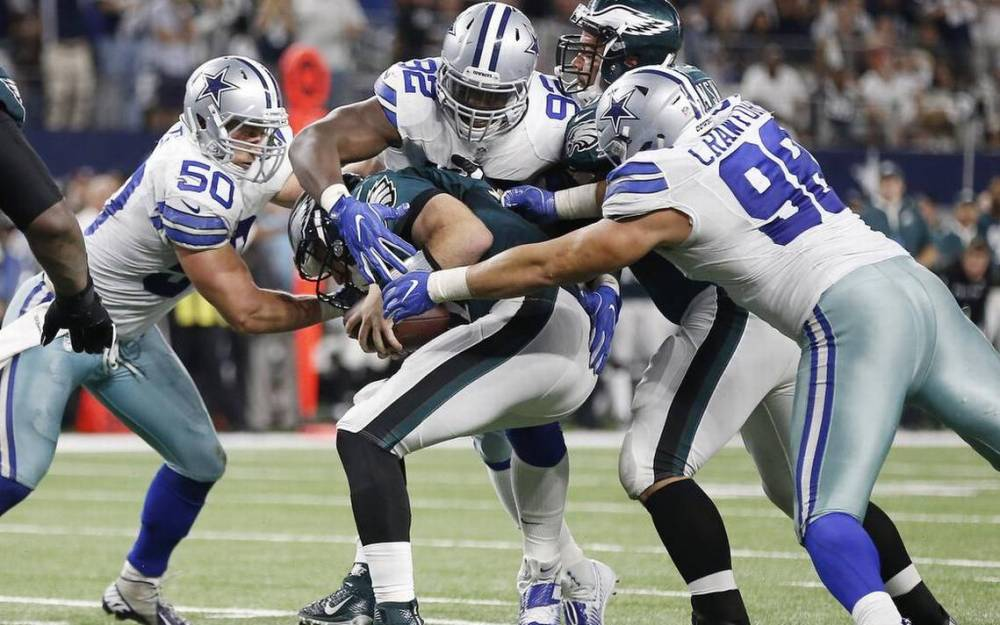 Tyrone Crawford, Sean Lee, Cedric Thornton, Eagles