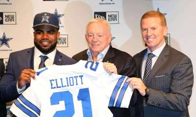 Ezekiel Elliott, Jason Garrett, Jerry Jones