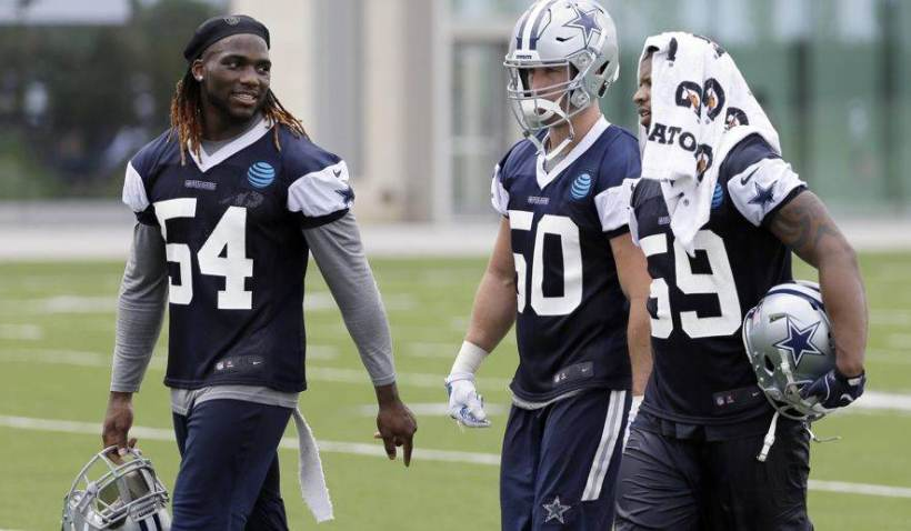 Jaylon Smith, Sean Lee, Anthony Hitchens