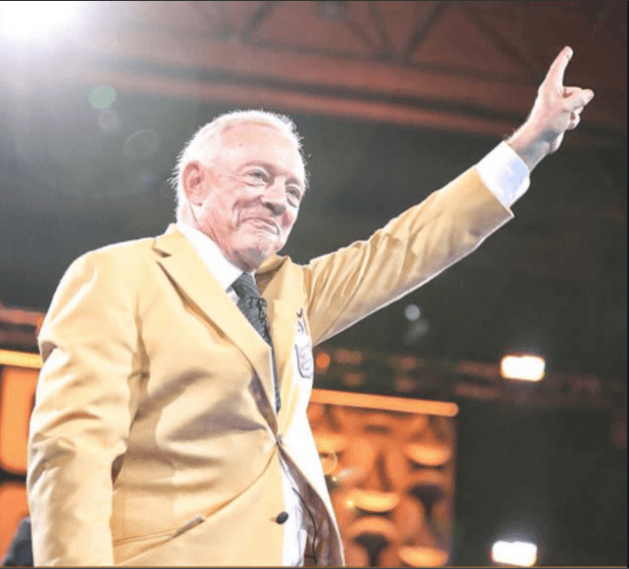 WATCH: Jerry Jones Receives Pro Football Hall of Fame Gold Jacket