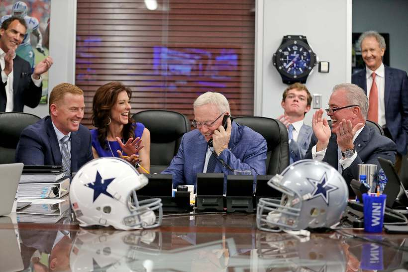 Jerry Jones, Jason Garrett, Stephen Jones